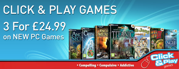 3 Click & Play Games for £24.99